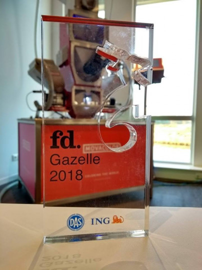MOVACOLOR AWARDED WITH FD GAZELLE AWARD 2018